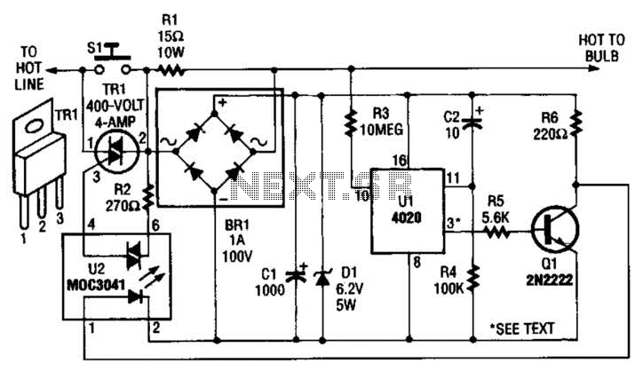 switch timer for bathroom light circuit schematic