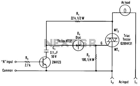 next is a circuit with the light between the two switches but with