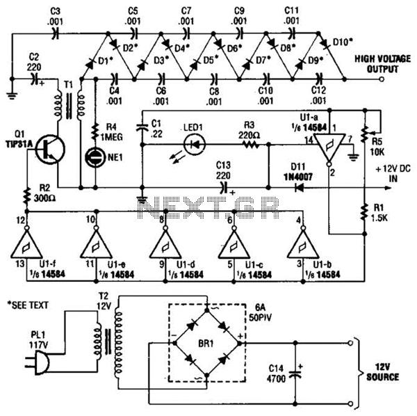 voltage multiplier circuit on dc high voltage multiplier circuit