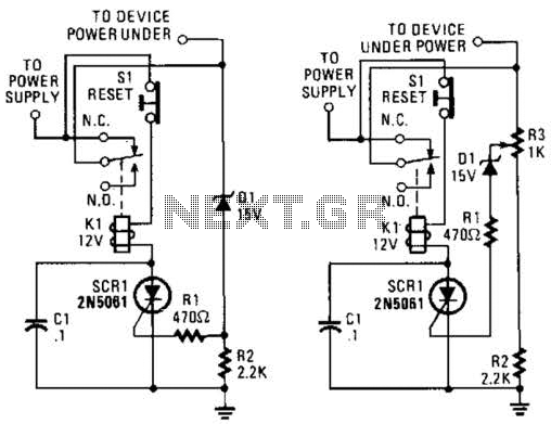 overvoltage crowbar circuit electronic circuits and design