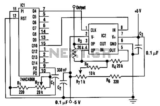 re adjustable sine wave generator circuit