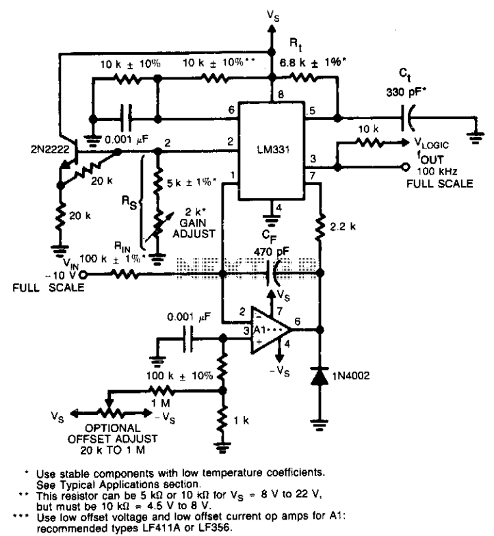 lm331 frequency to voltage converter