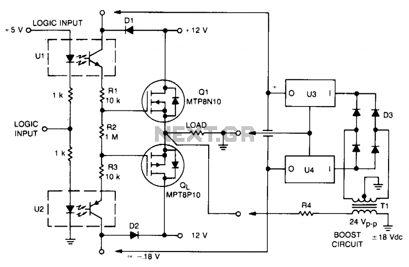 power mos fet switch circuit