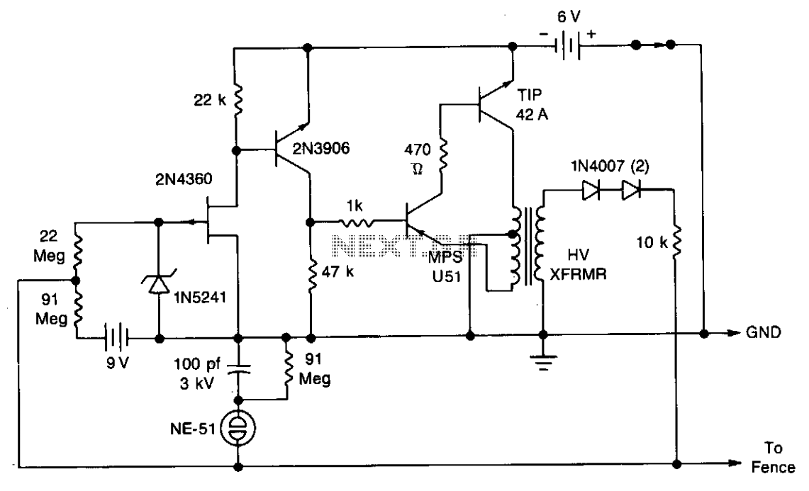 electric fence electric fence schematic