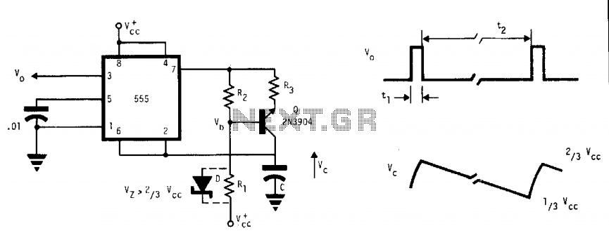 555 pulse timer oscillator