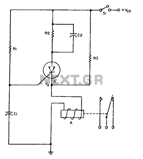time delay relay circuit is a relay that stays on for a certain