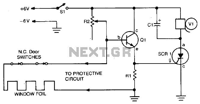 vibration detector for nc circuits