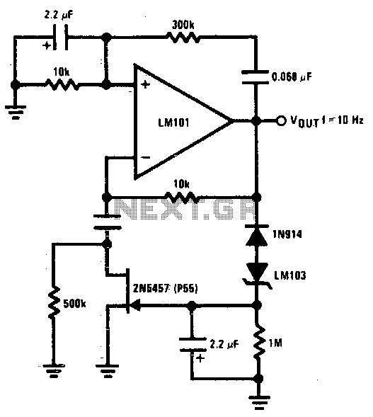 wein bridge sine wave oscillator circuit
