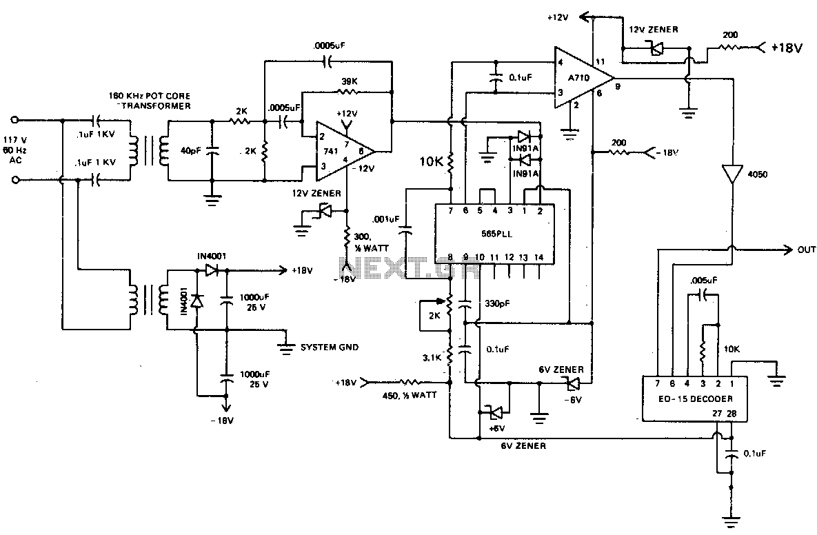 how to build ac line current detector