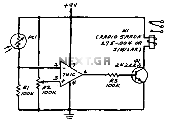 simple thermistor triggered switch with adjustable threshold it