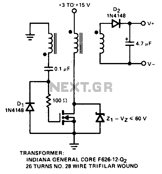 thread transistor based charge pump switching converters