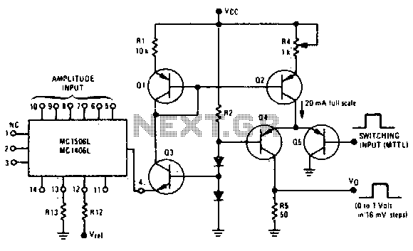 circuit the schmitt trigger circuit is built around a single
