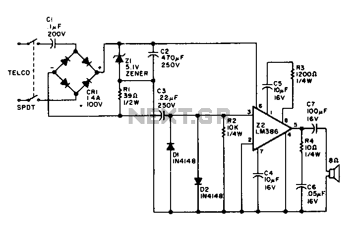 telephone line monitor circuit
