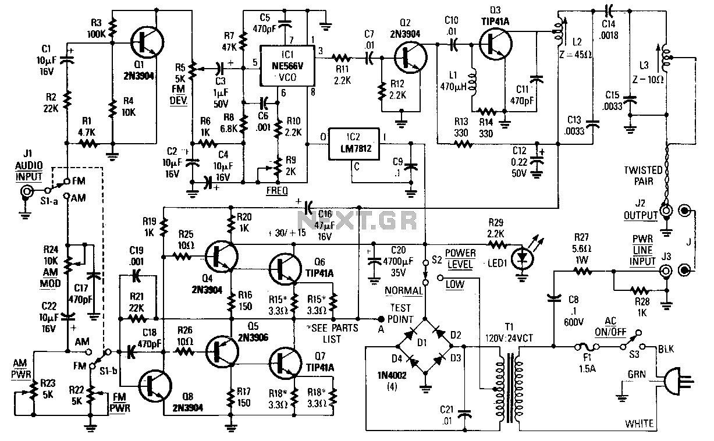 uhf transmitter circuit schematic