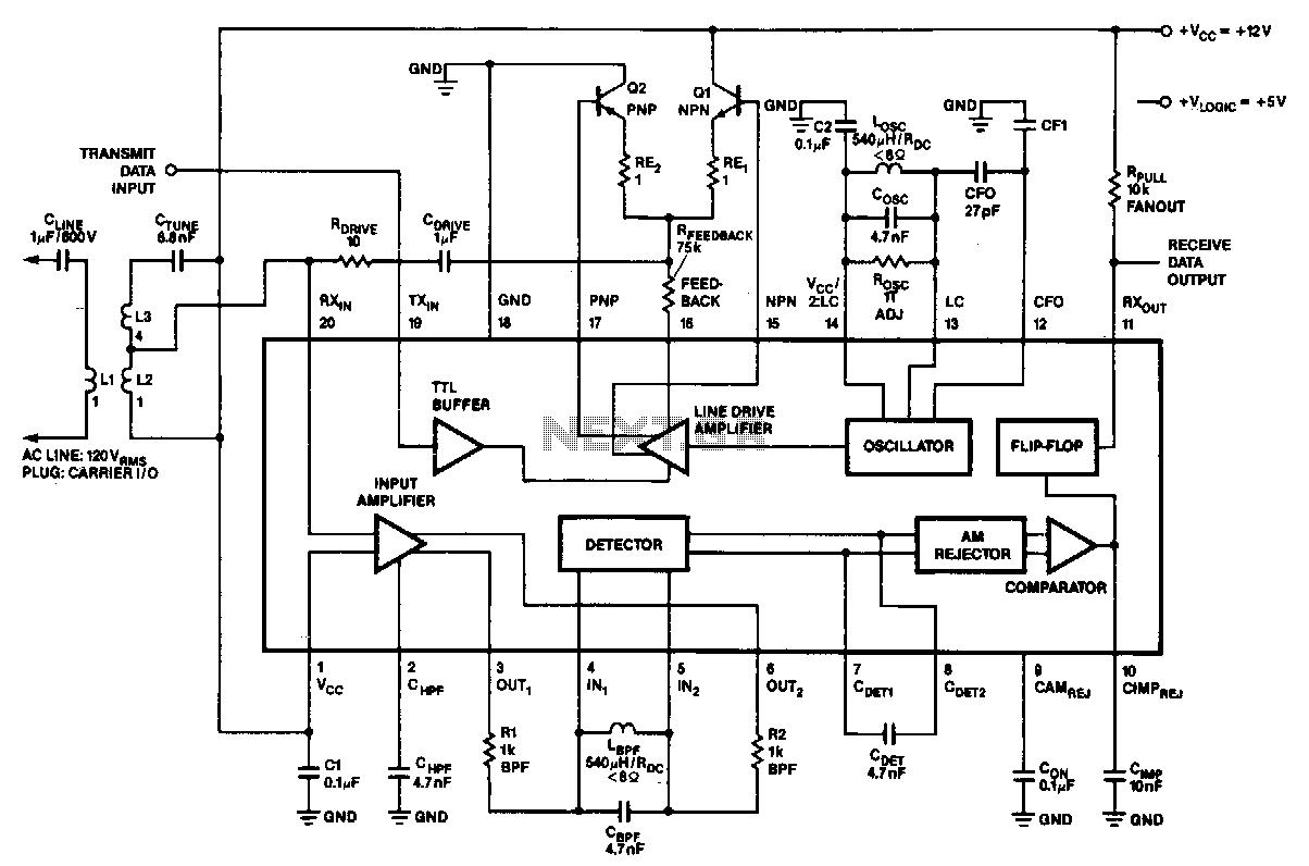att modem wire diagram
