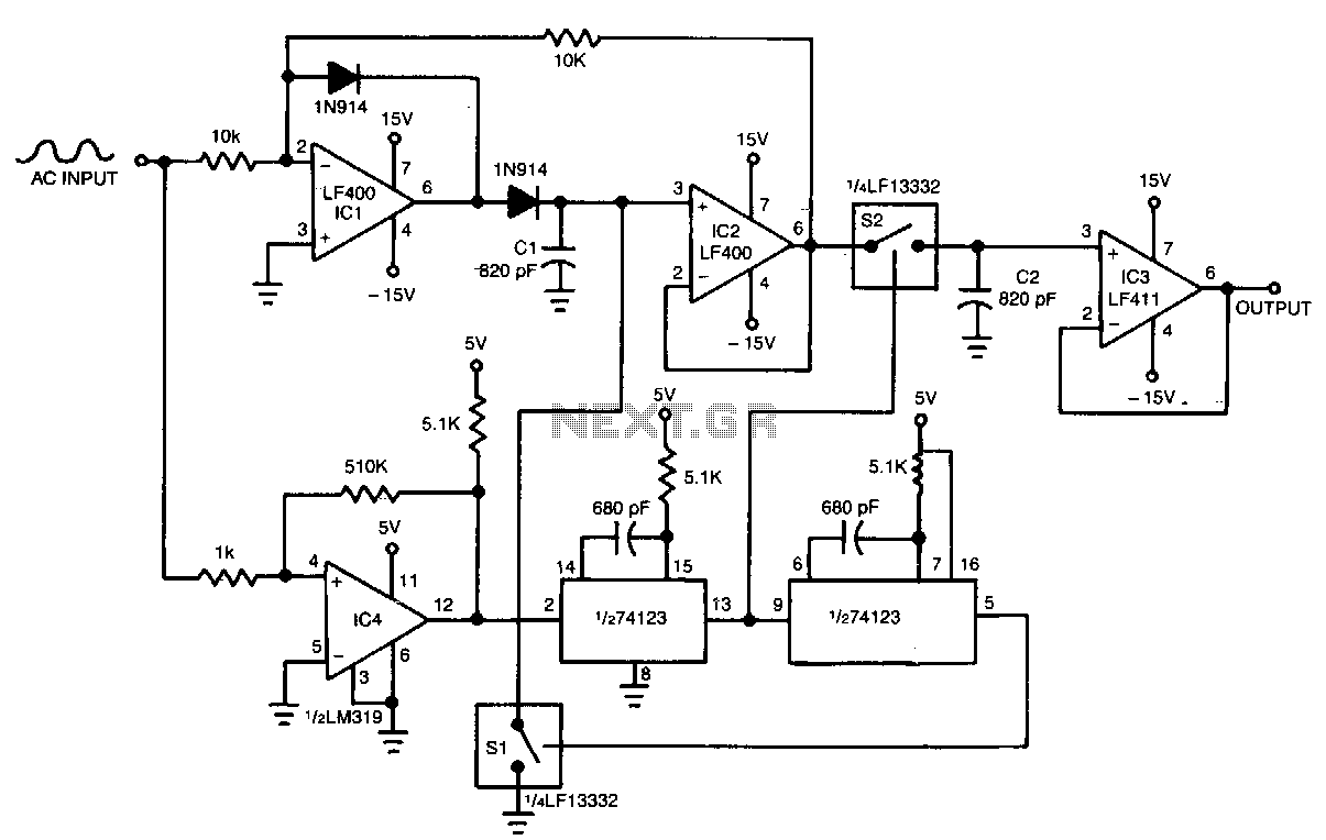 fast pulse detector circuit schematic diagram circuit wiring