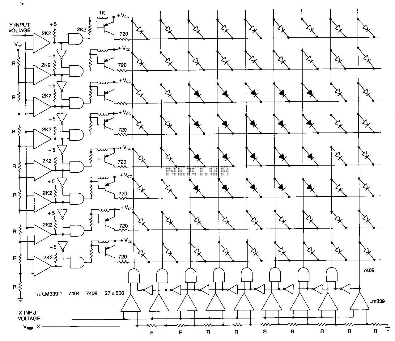 circuit diagram 4x4 matrix keypad