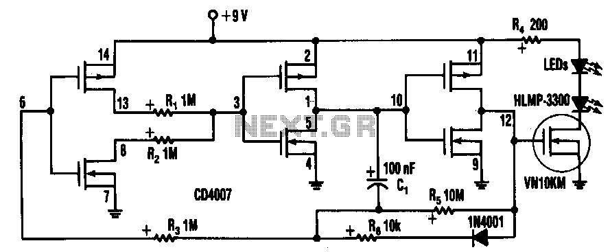 one led flasher circuit