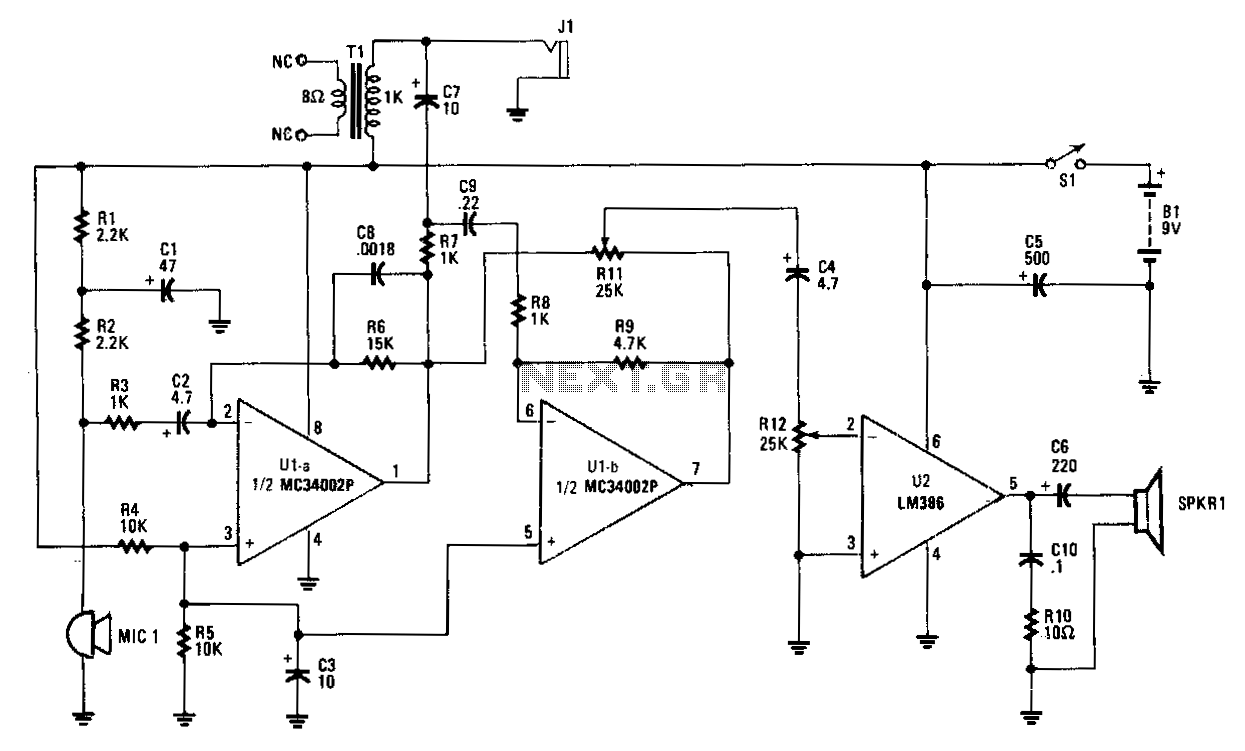full duplex audio line circuit