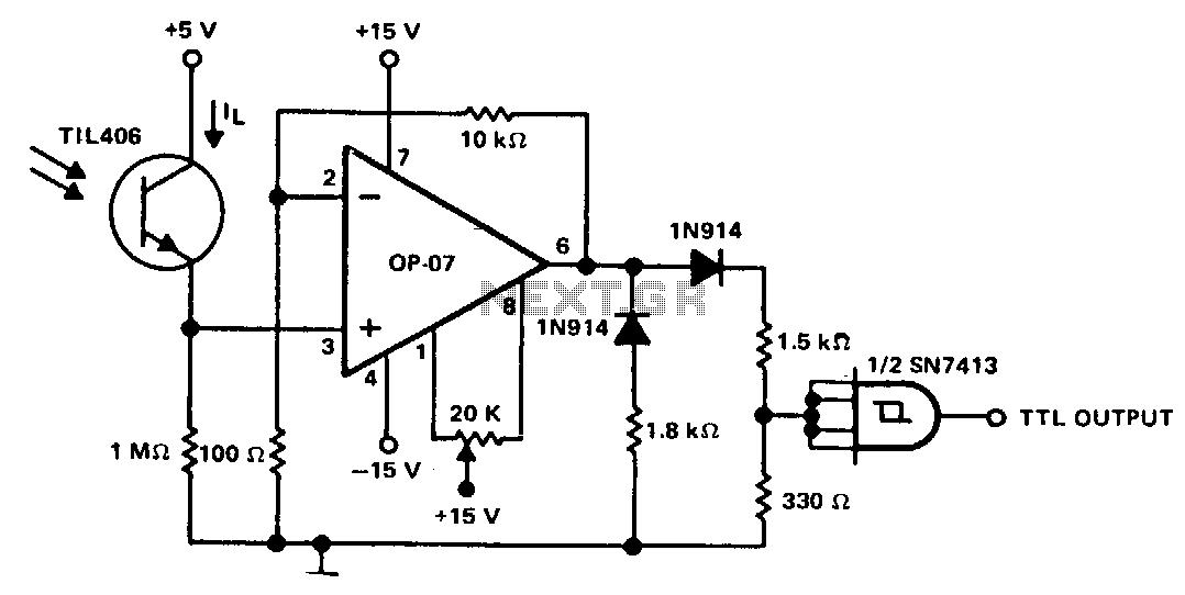 simple fluid level sensor circuit diagram