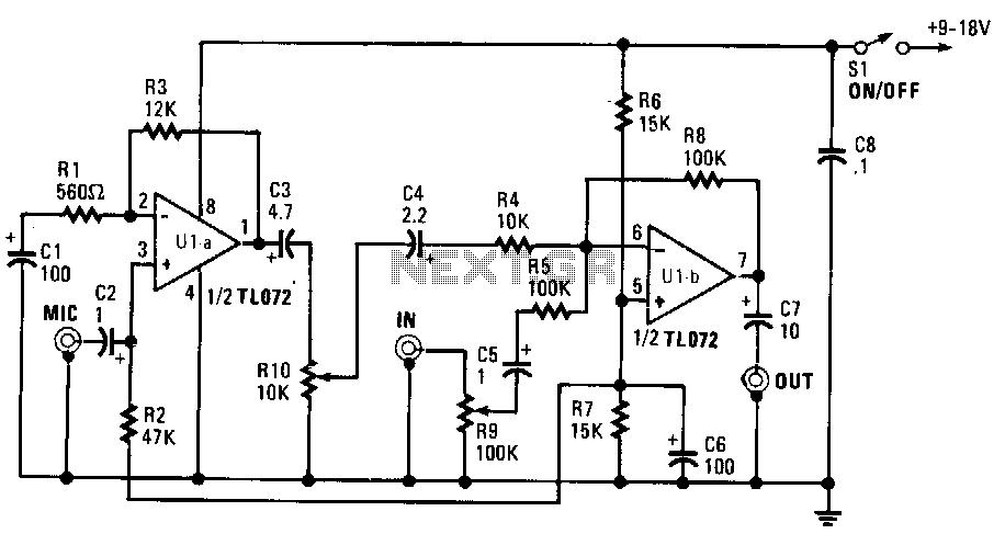 microphone mixer circuit diagram tradeoficcom