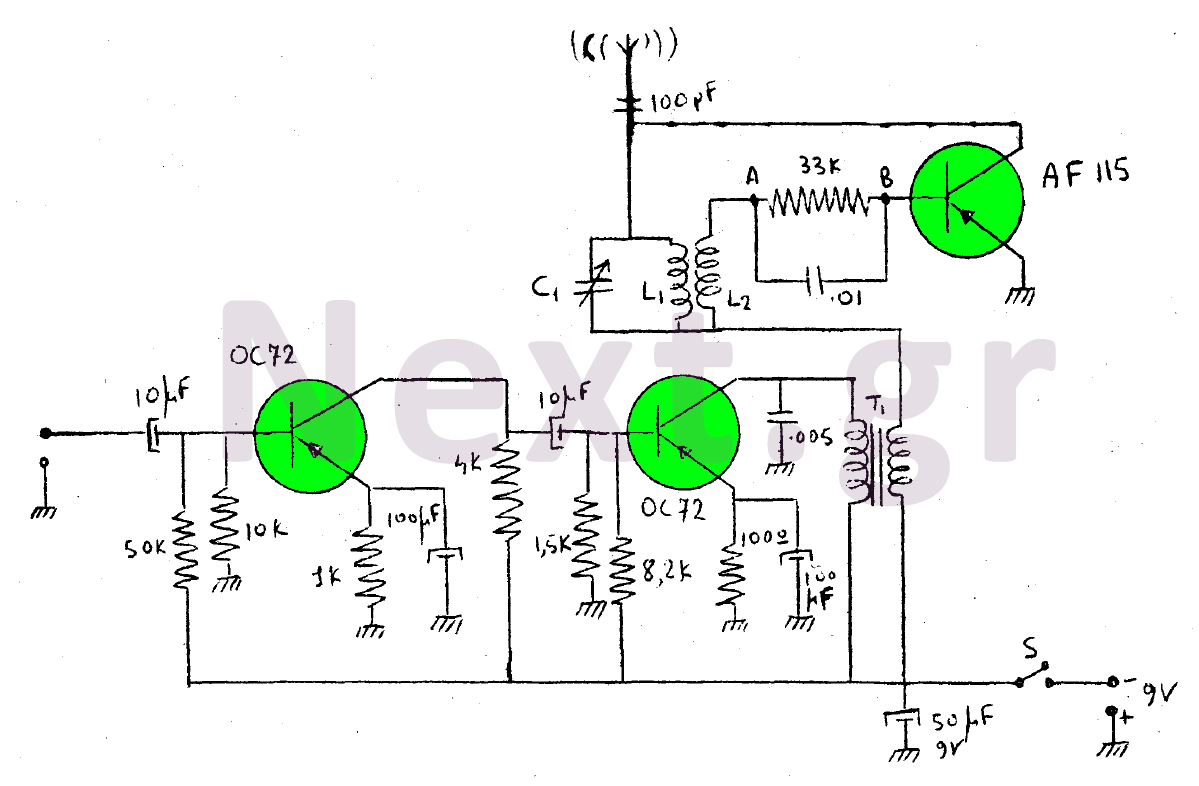 am modulator and 50w rf output stage