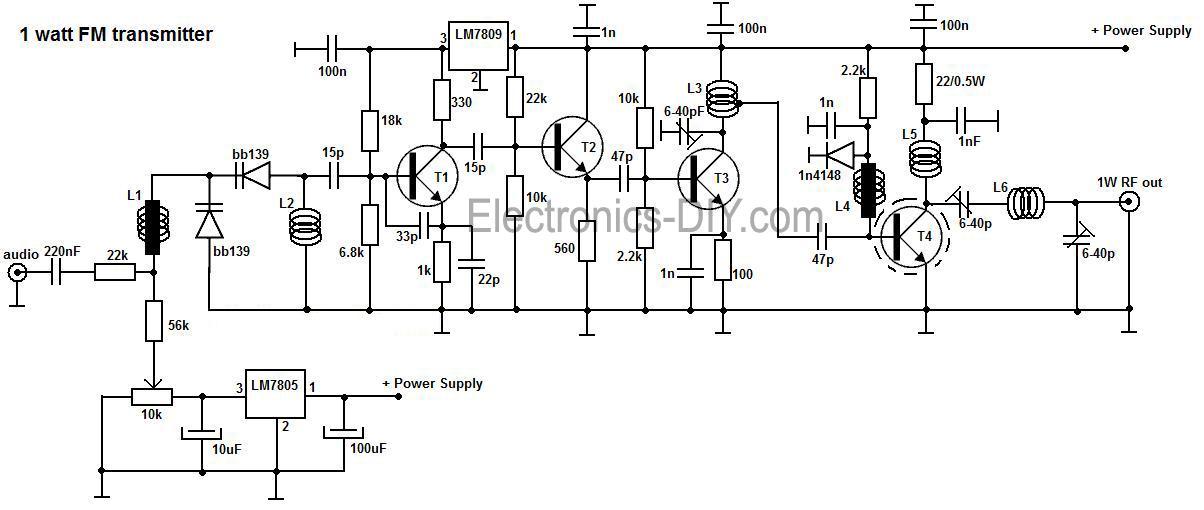 long range fm voice transmitter circuit