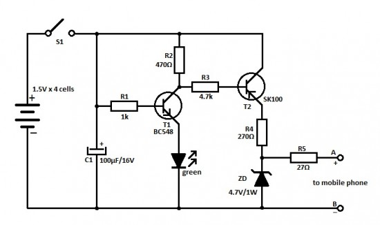 cell phone charger circuit