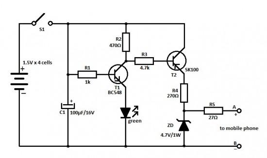 telephone status indicator circuit