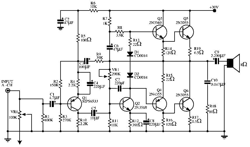 25w audio amplifier circuit using tda2613