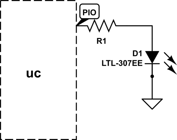 atmel driving leds directly from microcontroller pins