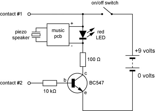 continuity tester circuit schematic