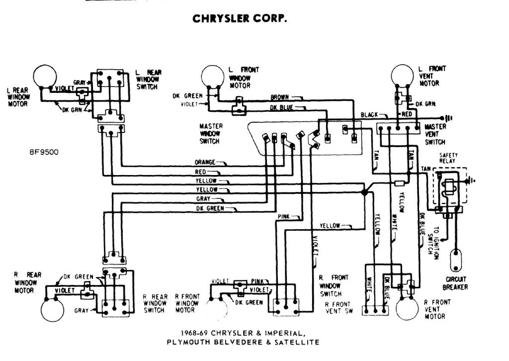 1968 Corvette Power Window Wiring Diagram Wiring Schematic Diagram