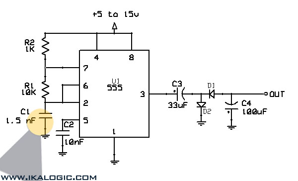 voltage doubler cum inverter circuit