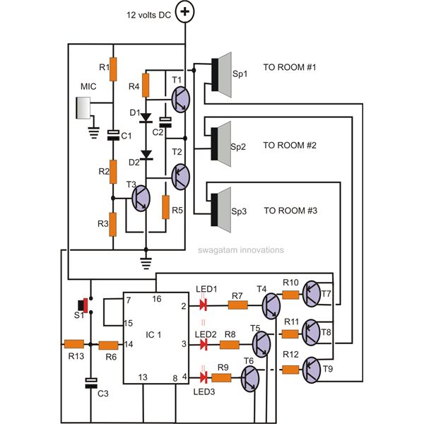 wireless intercom duplex circuit electronic circuits 8085