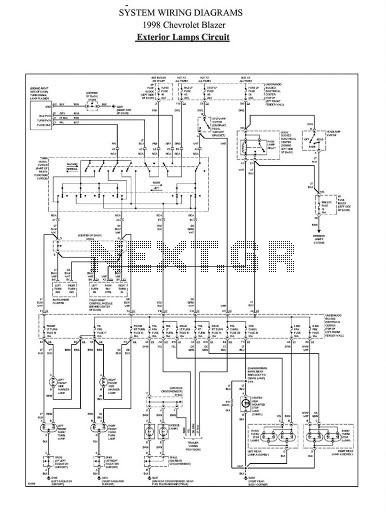 Exterior Lamp Circuit Diagram Of 1998 Chevrolet Blazer Index