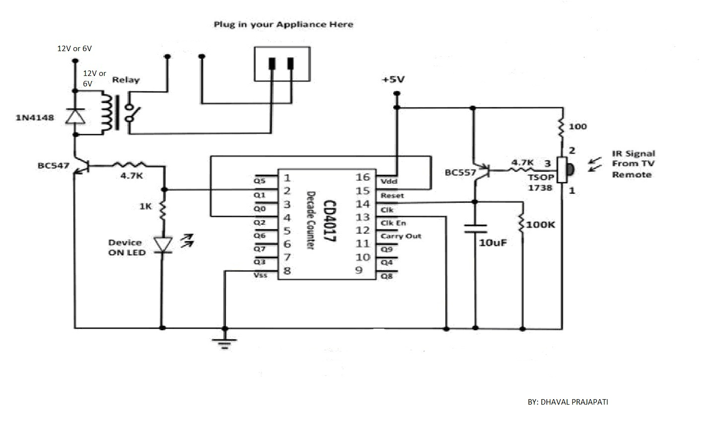 electronic project 3 channel rf remote control