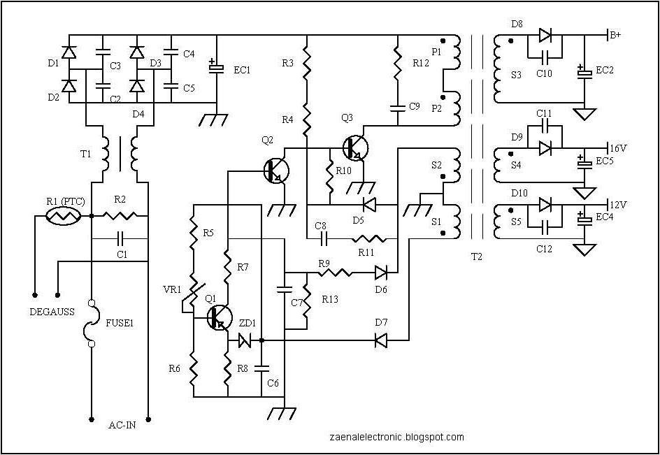 protectors circuit on smps power supply circuit schematic