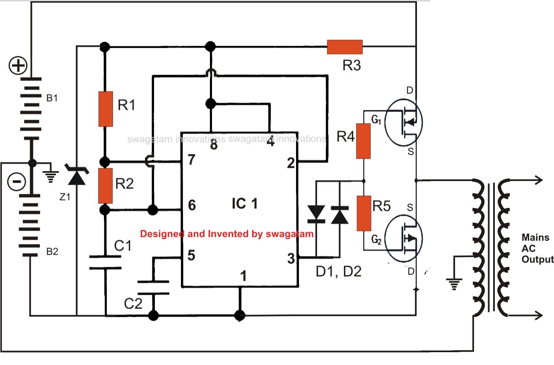 how to build cheap 12v to 220v inverter circuit diagram