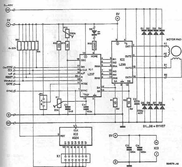 6 wire stepper motor controller circuit