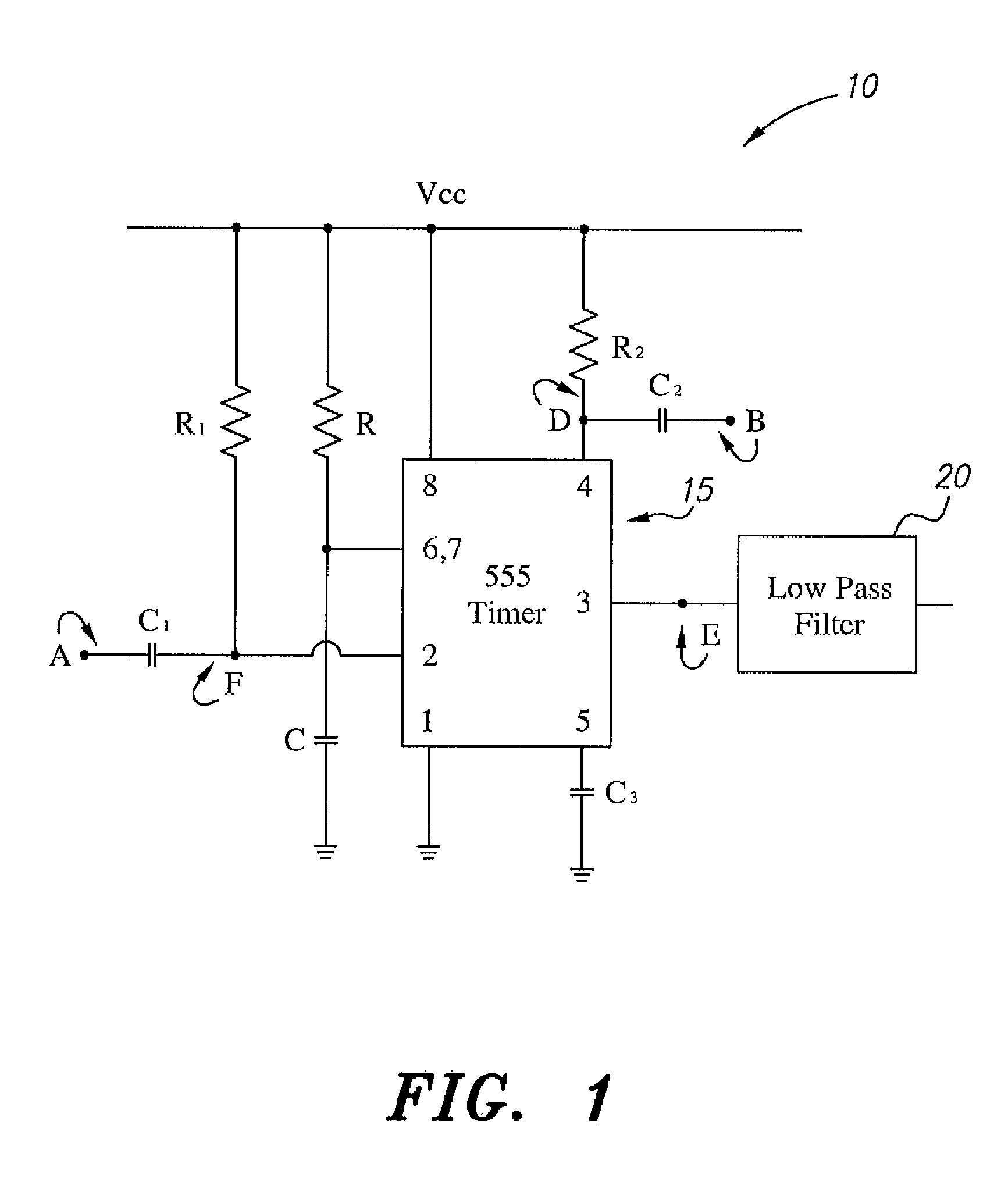 pulse width modulator using 555 ic