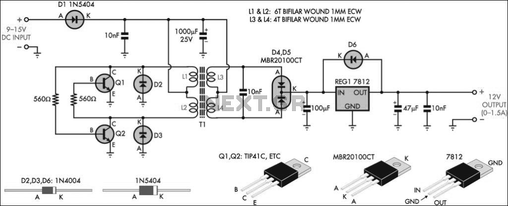 circuit will work under a 9v battery power supply the circuit