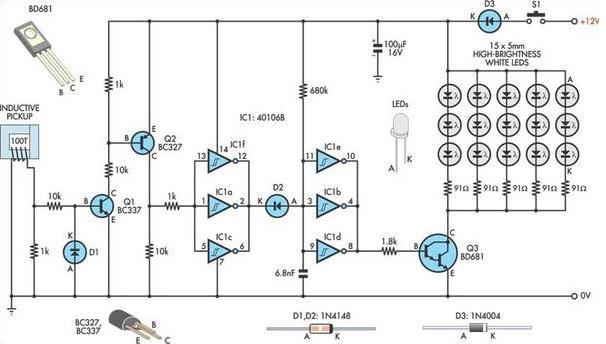 strobe lights wiring diagram for cars