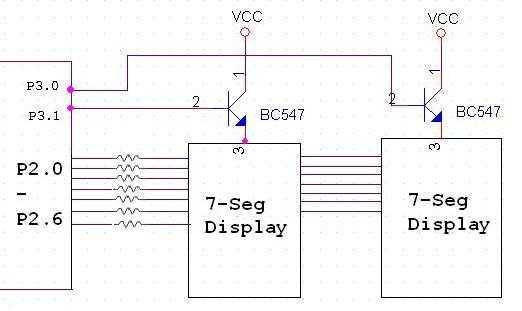 interfacing seven segment display to 8051
