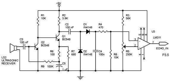 ultrasonic distance measure circuit question