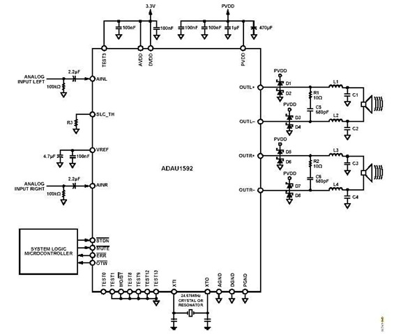 Tda2040 Car Stereo Amplifier Audio Wiring Diagram Better Wiring