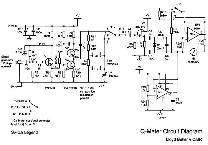circuit diagram of q meter