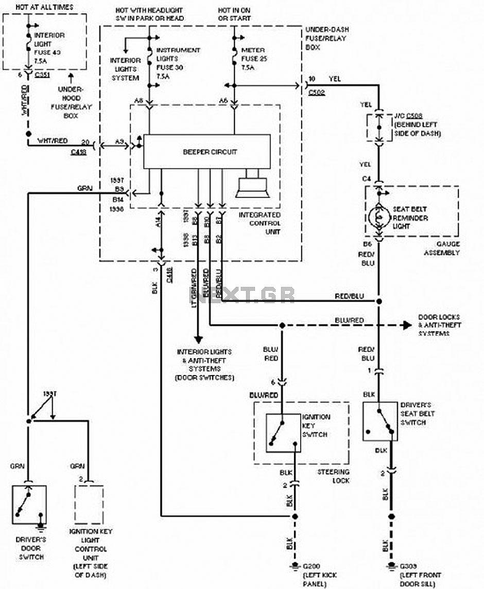 wiring diagram 1997 honda cr v