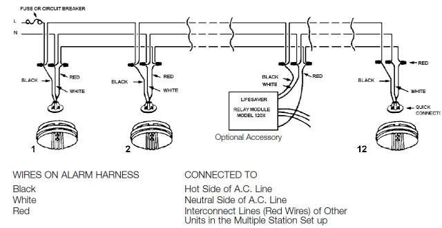 wiring diagram for smoke alarms