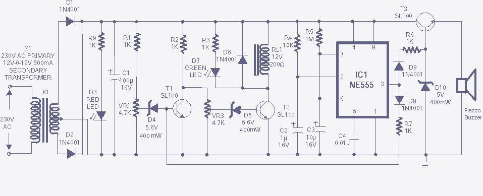 v guard voltage stabilizer circuit diagram